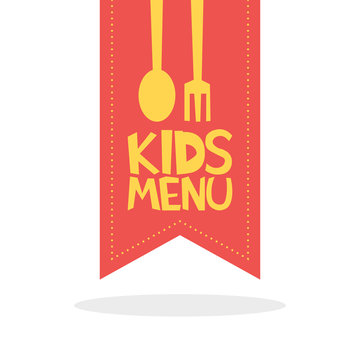 Kids Menu red label template