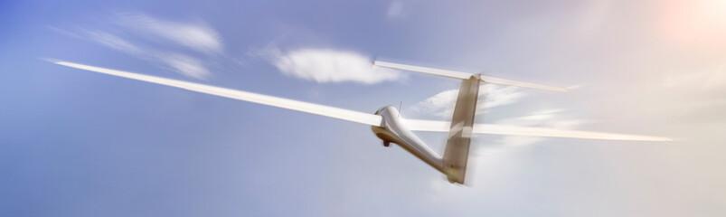 glider speeding mid air