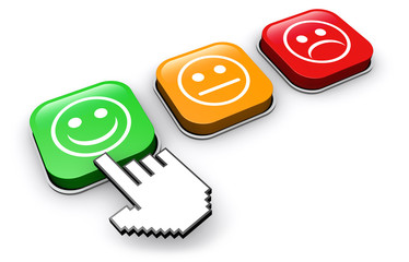 Customer Quality Happy Feedback Button