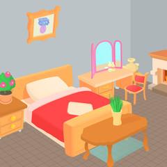 Furniture concept, cartoon style
