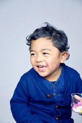 2 year-old boy playing