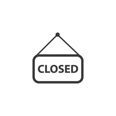 Open door label icon for web and mobile