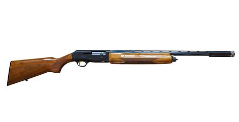 pump action shotgun isolated on white background