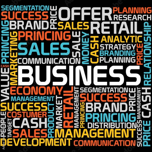 Business word cloud template stock image and royalty free vector business word cloud template maxwellsz
