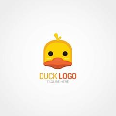 Duck Logo Design Template. Vector Illustration