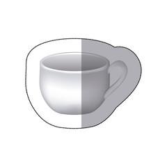 sticker white cup icon, vector illustraction design image