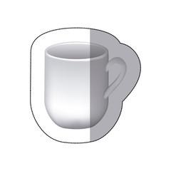 sticker white cuppa icon, vector illustraction design image