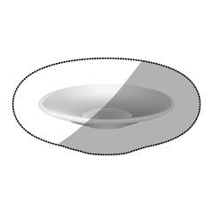 sticker white plate icon, vector illustraction design image