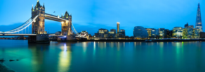 Panorama of London landmarks. England