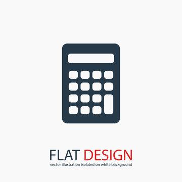 calculator icon, vector illustration. Flat design style