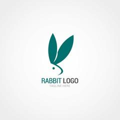 Rabbit Logo Design Template. Vector Illustration