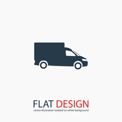 Truck icon, vector illustration. Flat design style