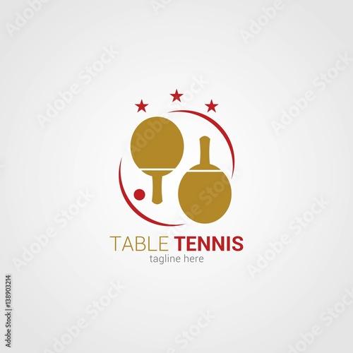quottable tennis logo design template vector illustration