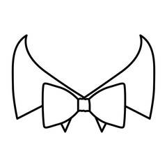 figure sticker bow tie with shirt icon, vector illustraction design