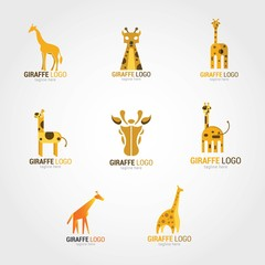 Giraffe Logo Design Template. Vector Illustration