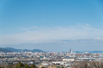 高松市街並み (香川県庁舎、サンポート高松シンボルタワー)