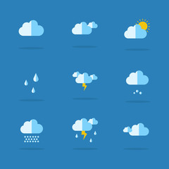 Collection of weather set icon