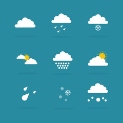 Illustration of weather set icon