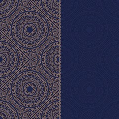 Oriental pattern with mandala..