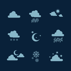 Weather set icon illustration vector