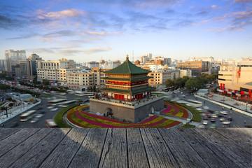 Keuken foto achterwand Xian Xi'an city building