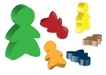 3d board game meeple