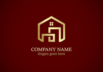 home building gold company logo