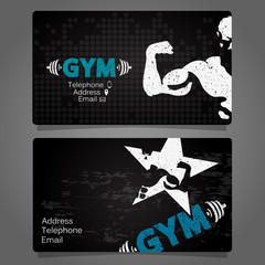 Business Card gym and fitness