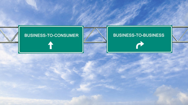 Road signs to B2B and B2C