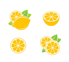 Lemon. Citrus fruit on white background