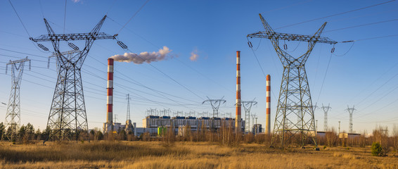Classic coal plant, coal-fired power plant