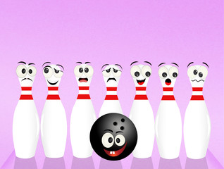 cute bowling pins