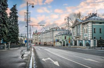Улица Волхонка Volkhonka street in Moscow