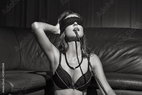 Blindfold bondage women