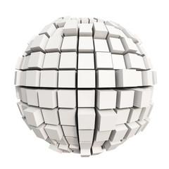 White cube sphere