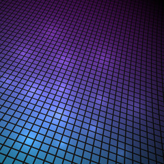Dark 3D cyan and magenta mosaic vector background.