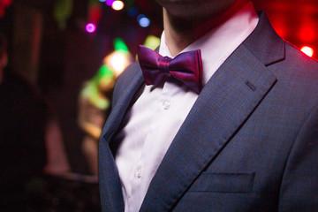 new violet  bow tie