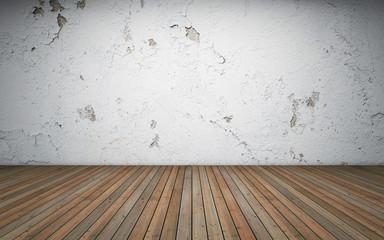Old empty room. 3d rendering