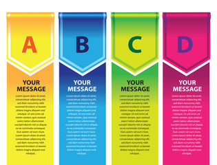 Colorful Banner Page Layout Design Background Template for List Infographic