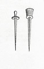 Swords of roman gladiators (from Meyers Lexikon, 1895, 7/607)
