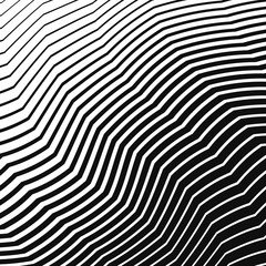halftone curved zigzag lines background
