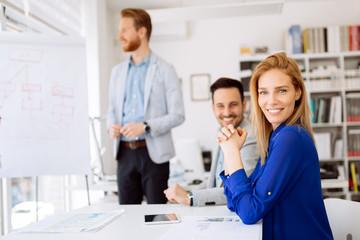 Successful businesswoman CEO of company