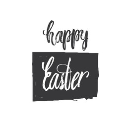 Happy easter lettering modern. Hand written Easter phrases .Greeting card text templates with Easter eggs isolated on white background. Happy easter lettering modern calligraphy style. Vector