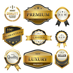 Luxury premium golden labels collection,vector illustration