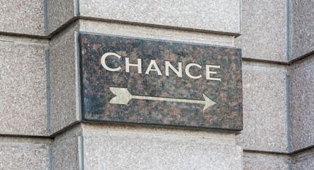 Schild 204 - Chance