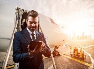 Geschäftsmann auf Reisen