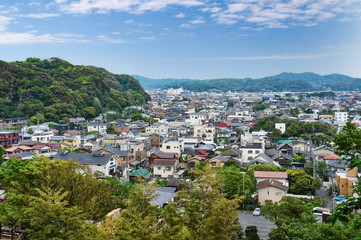 View on Kamakura city in Kanagawa Prefecture, Japan