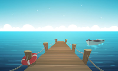 Cartoon Pier
