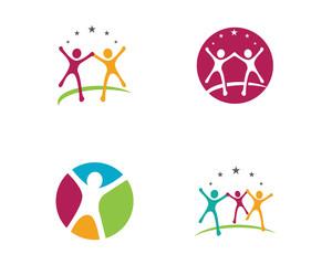 Business people success life logo