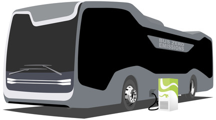 Future bus zero emissions charging batery point